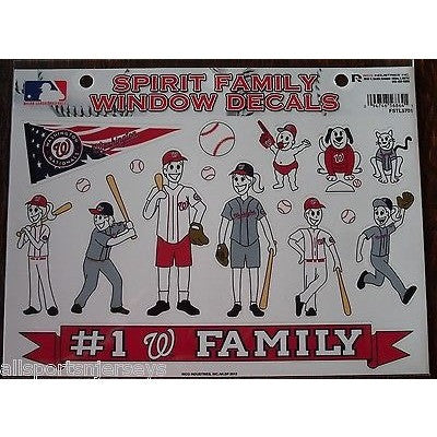 MLB Washington Nationals Spirit Family Decals Set of 17 by Rico Industries
