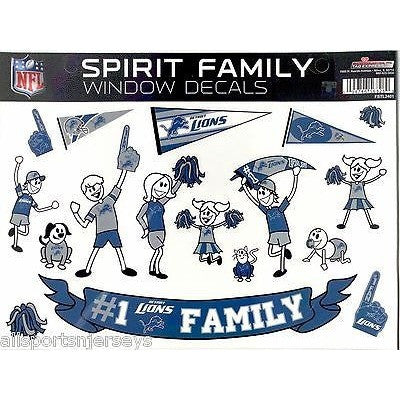 NFL Detroit Lions Spirit Family Decals Set of 17 by Rico Industries