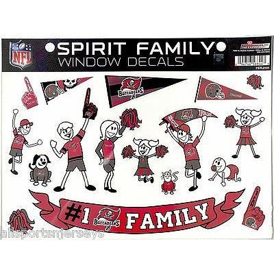 NFL Tampa Bay Buccaneers Spirit Family Decals Set of 17 by Rico Industries