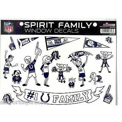 NFL Indianapolis Colts Spirit Family Decals Set of 17 by Rico Industries