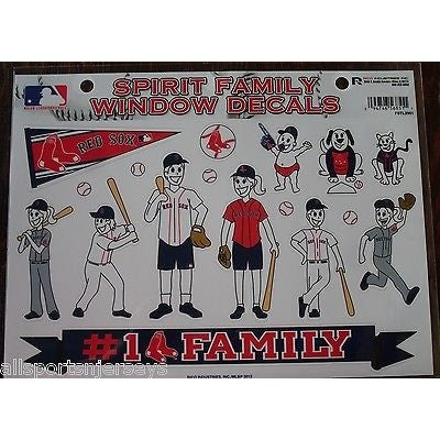 MLB Boston Red Sox Spirit Family Decals Set of 17 by Rico Industries