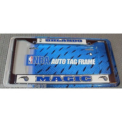 NBA Orlando Magic Chrome License Plate Frame Thick 2 Color Letters