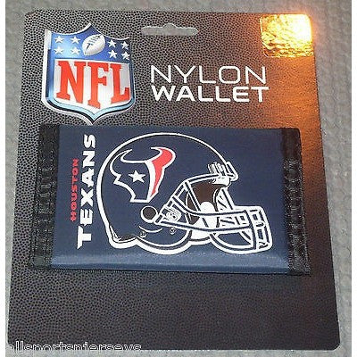 NFL Houston Texans Tri-fold Nylon Wallet with Printed Helmet