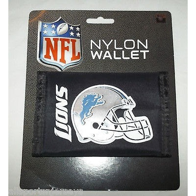 NFL Detroit Lions Tri-fold Nylon Wallet with Printed Helmet