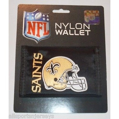 NFL New Orleans Saints Tri-fold Nylon Wallet with Printed Helmet