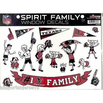 NFL Houston Texans Spirit Family Decals Set of 17 by Rico Industries