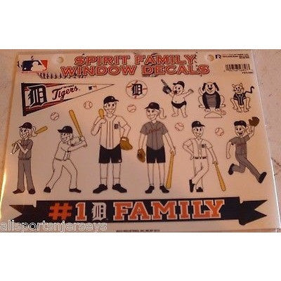 MLB Detroit Tigers Spirit Family Decals Set of 17 by Rico Industries