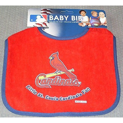 MLB Little St. Louis Cardinals Fan Infant Baby Bib Red Blue Trim Wincraft