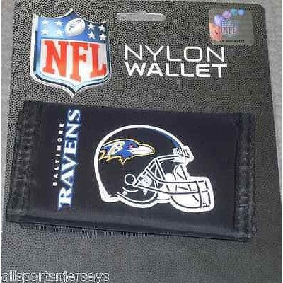 NFL Baltimore Ravens Tri-fold Nylon Wallet with Printed Helmet