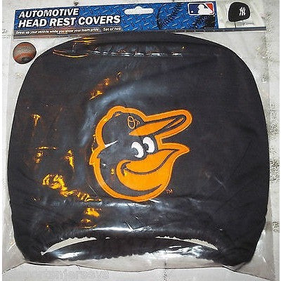 MLB Baltimore Orioles Headrest Cover Embroidered Alt Logo Set of 2 by Team ProMark
