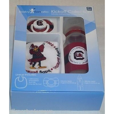 NCAA South Carolina Gamecocks Gift Set Bottle Bib Pacifier by baby fanatic