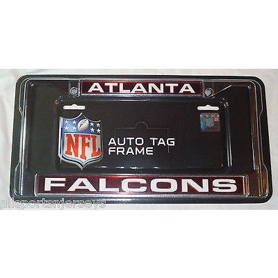 NFL Atlanta Falcons Laser Cut Chrome License Plate Frame