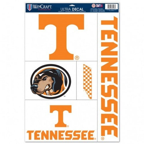 NCAA Tennessee Volunteers Ultra Decals Set of 5 By WINCRAFT w/ Dog