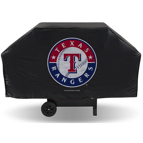 MLB Texas Rangers 68 Inch Vinyl Economy Gas / Charcoal Grill Cover