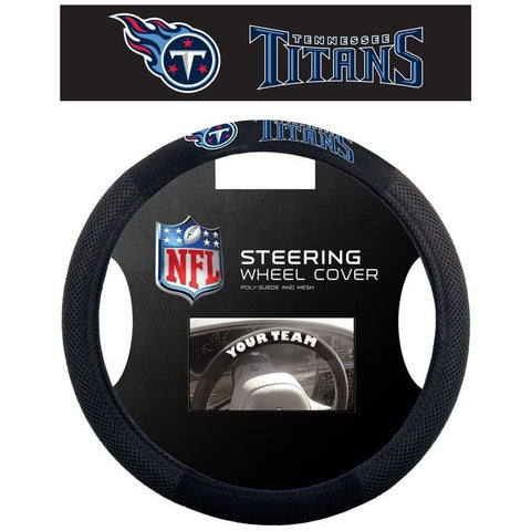 NFL POLY-SUEDE MESH STEERING WHEEL COVER TENNESSEE TITANS