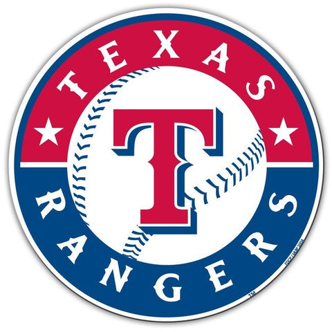 MLB Texas Rangers Logo on 12 inch Auto Magnet