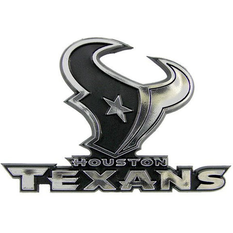 NFL Houston Texans 3-D Auto Team Chrome Emblem Team ProMark