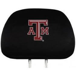 NCAA Texas A&M Aggies Headrest Cover Embroidered Logo Set of 2 by Team ProMark