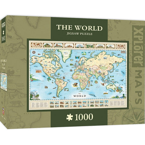 The World Map 1000 pc Jigsaw Puzzle by Masterpieces Puzzles Co