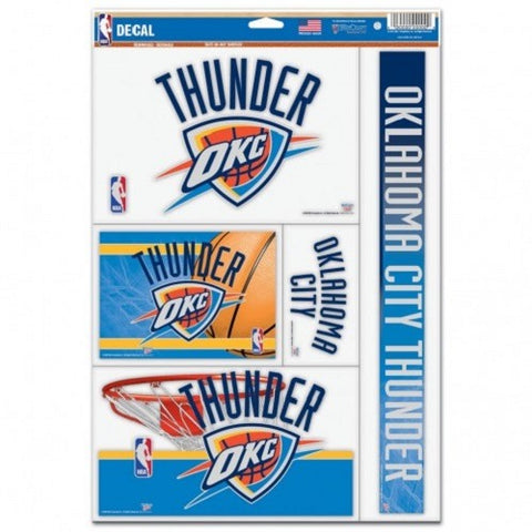 NBA Oklahoma City Thunder Ultra Decals Set of 5 By WINCRAFT