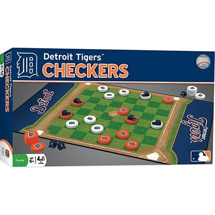 MLB Detroit Tigers Checkers Game by Masterpieces Puzzles Co.