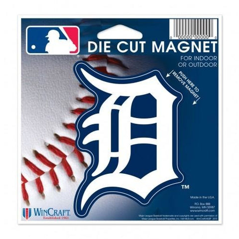 MLB Detroit Tigers Logo 4 inch Auto Magnet by WinCraft