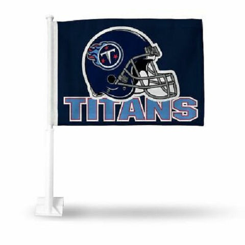 NFL Tennessee Titans Helmet on Blue Window Car Flag by Fremont Die