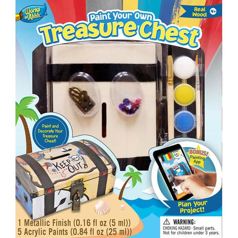 MasterPieces Works of Ahhh... Treasure Chest Wood Paint Kit 21412