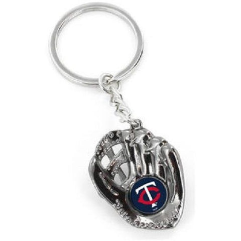 MLB Minnesota Twins Chrome Glove With Logo in Palm Key by AMINCO