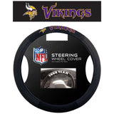 NFL POLY-SUEDE MESH STEERING WHEEL COVER MINNESOTA VIKINGS