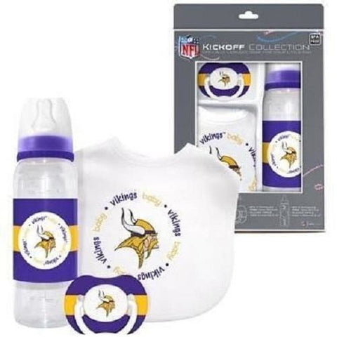 NFL Minnesota Vikings Gift Set Bottle Bib Pacifier by baby fanatic