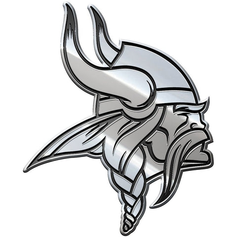NFL Minnesota Vikings 3-D Chrome Heavy Metal Emblem By Team ProMark
