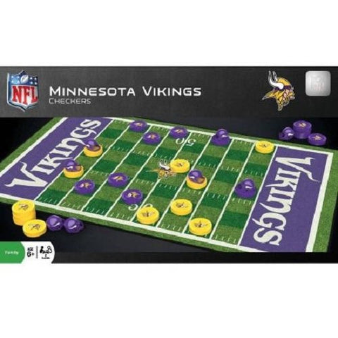 NFL Minnesota Vikings Checkers Game by Masterpieces Puzzles Co.