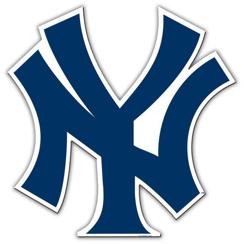 MLB New York Yankees Logo on 12 inch Auto Magnet