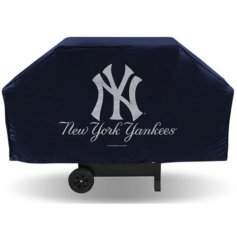 MLB New York Yankees 68 Inch Vinyl Blue Economy Gas / Charcoal Grill Cover