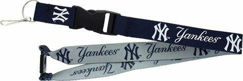 "MLB New York Yankees Reversible Lanyard Keychain 23"" Long 3/4"" Wide by Aminco"
