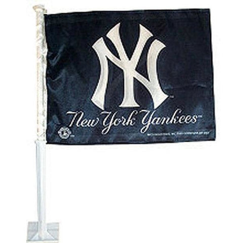 MLB Logo New York Yankees Blue Window Car Flag RICO or Fremont Die