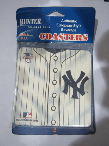 MLB New York Yankees Logo on Jersey Image Thick Paper Coasters 6 Pack