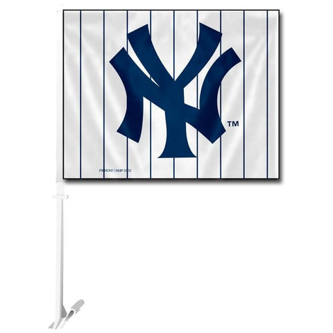 MLB Logo New York Yankees White Window Car Flag RICO or Fremont Die
