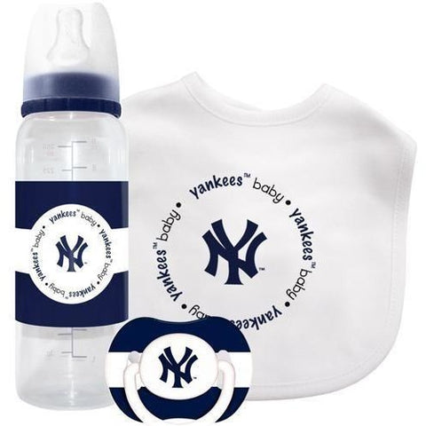 MLB New York Yankees Gift Set Bottle Bib Pacifier by baby fanatic