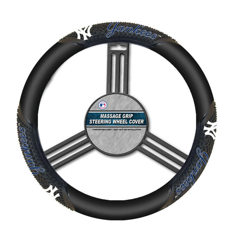 MLB New York Yankees Massage Steering Wheel Cover Fremont Die
