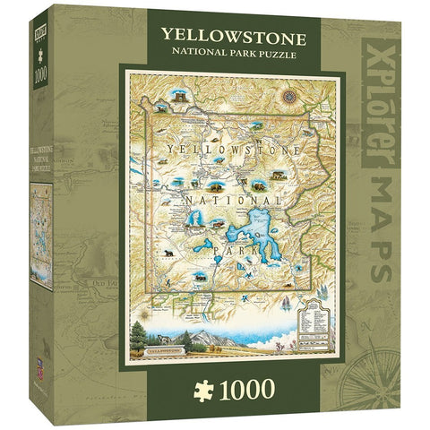Yellowstone Map 1000 pc Jigsaw Puzzle by Masterpieces Puzzles Co
