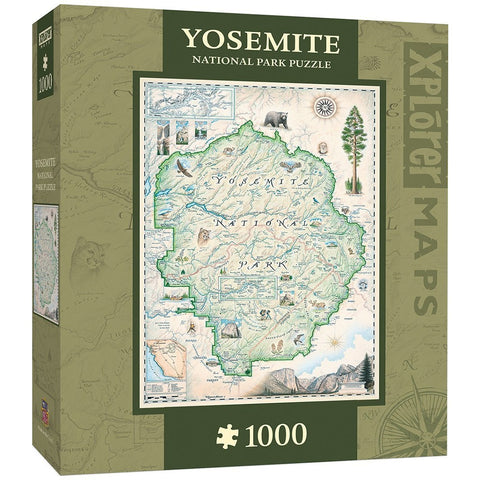 Yosemite Map 1000 pc Jigsaw Puzzle by Masterpieces Puzzles Co