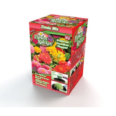Flower Rocket AS SEEN ON TV Zinnia Mix Kit Over 500 Seeds