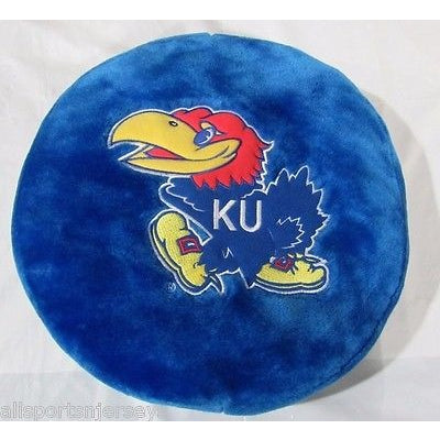NCAA NWT 8X8 CIRCLE PILLOW - KANSAS JAYHAWKS