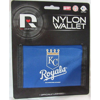 MLB Kansas City Royals Tri-fold Nylon Wallet with Printed Logo