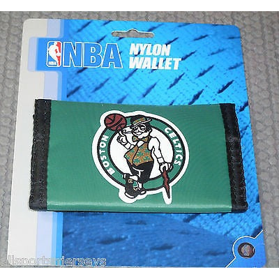 NBA Boston Celtics Tri-fold Nylon Wallet with Printed Logo