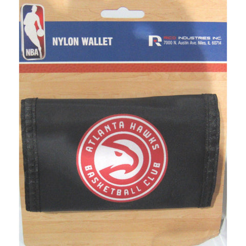 NBA Atlanta Hawks Tri-fold Nylon Wallet with Printed Logo