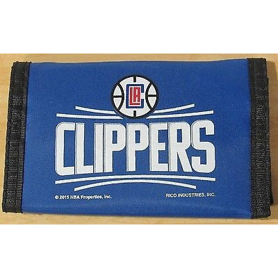 NBA Logo Los Angeles Clippers Tri-fold Nylon Wallet with Printed Logo