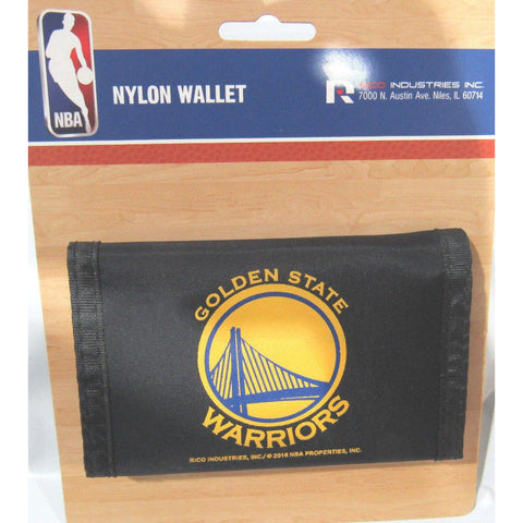 NBA Golden State Warriors Tri-fold Nylon Wallet with Printed Logo